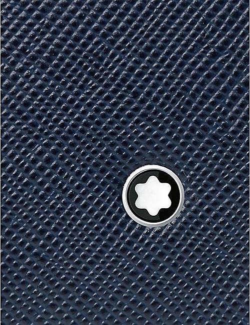MONTBLANC 萨图里亚尔皮革名片夹与 接档