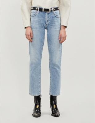 Emerson slim-fit boyfriend mid-rise jeans