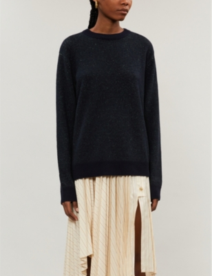 Marled knitted jumper