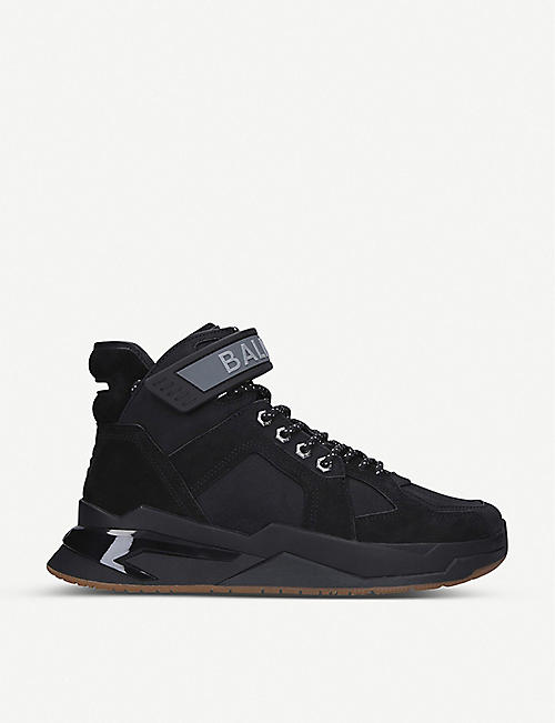 BALMAIN B-Ball high-top leather trainers