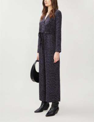 Callan animal-print woven jumpsuit