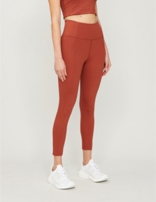 Compressive 7/8 high-rise stretch-jersey leggings