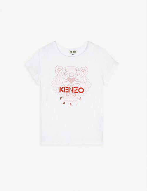 KENZO 棉质标志印花T恤 4-12 岁