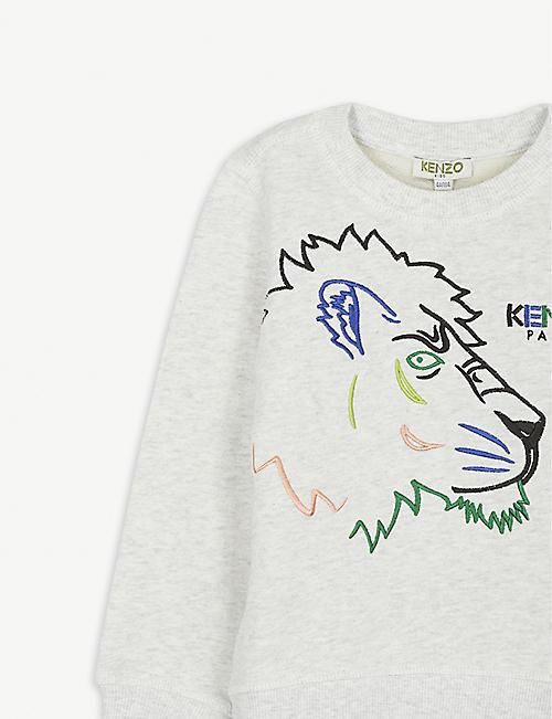 KENZO Tiger embroidered cotton sweatshirt 4-14 years