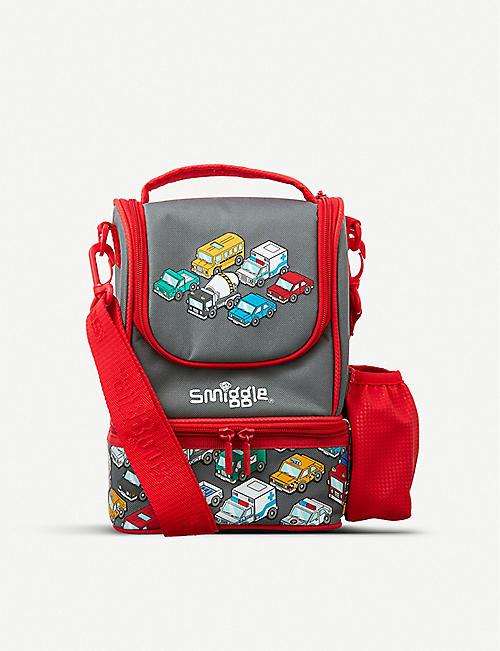 SMIGGLE 徘徊 junior 肩带编织饭盒