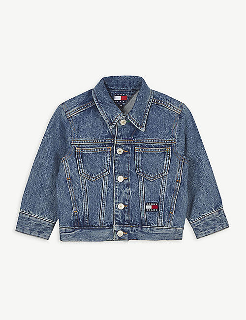 TOMMY HILFIGER Flag patch-embroidered denim jacket 4-12 years