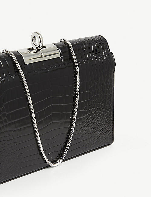 GU DE Luxy 鳄鱼浮雕皮革手拿包