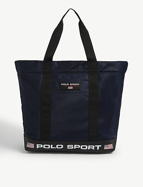 POLO RALPH LAUREN运动标志尼龙手提包