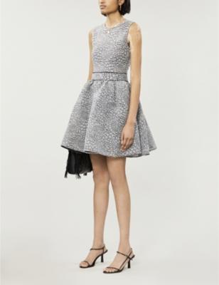 Reinatta woven mini dress