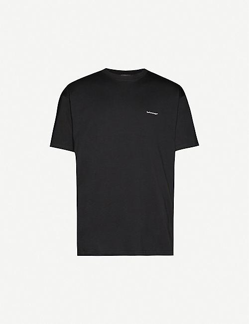 BALENCIAGA 版权棉质球衣徽标 T 恤