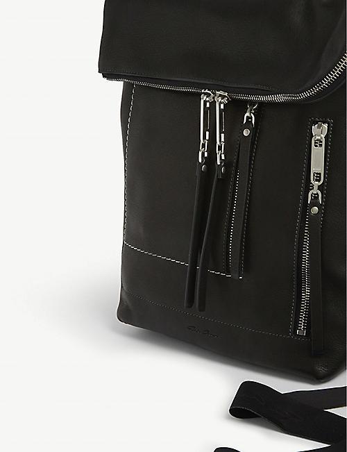 RICK OWENS Mini leather duffle bag