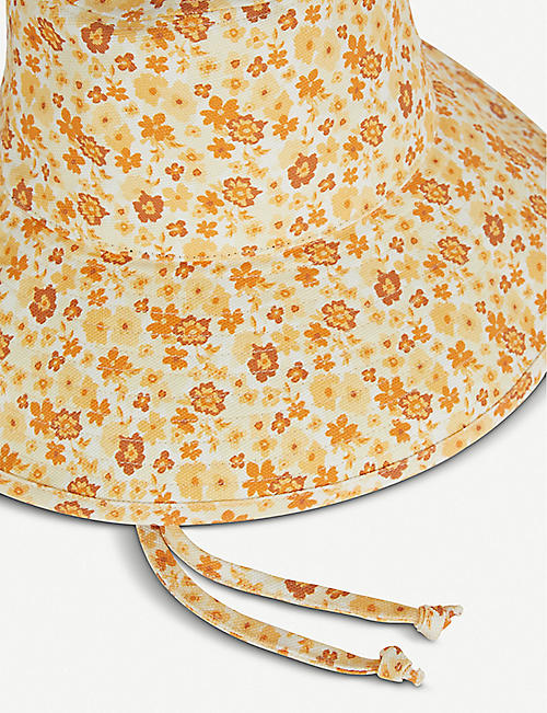 LACK OF COLOR Wave floral-print cotton-canvas bucket hat