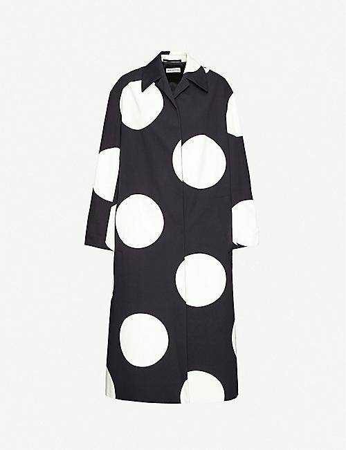 DRIES VAN NOTEN Polka-dot cotton coat