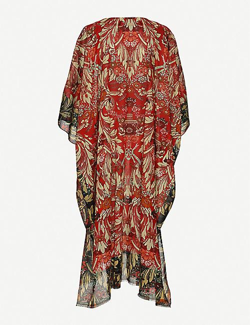 DRIES VAN NOTEN Floral-print cotton kaftan