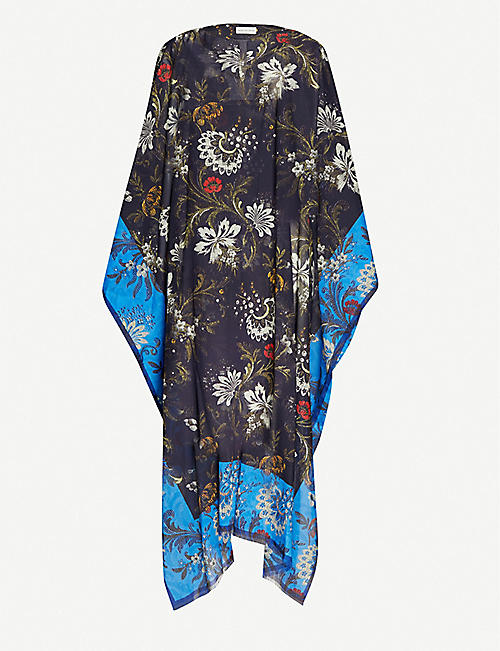 DRIES VAN NOTEN Floral-print cotton kaftan