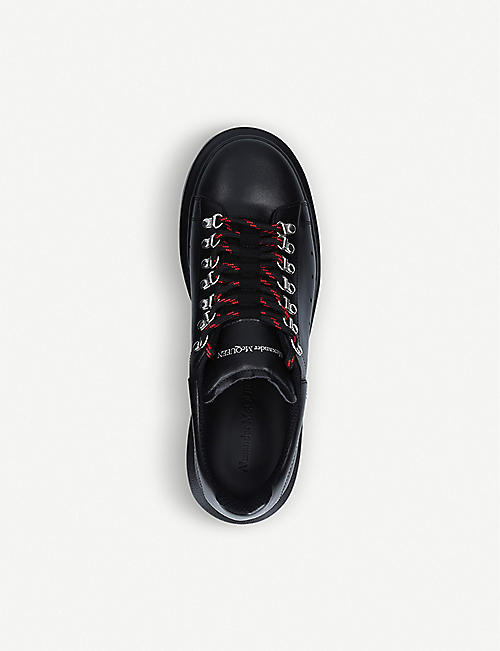 ALEXANDER MCQUEEN Hiking Show leather platform trainers