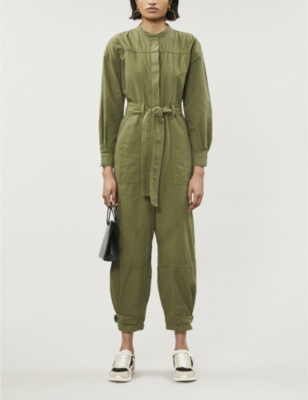 Julianna woven utility Jumpsuit