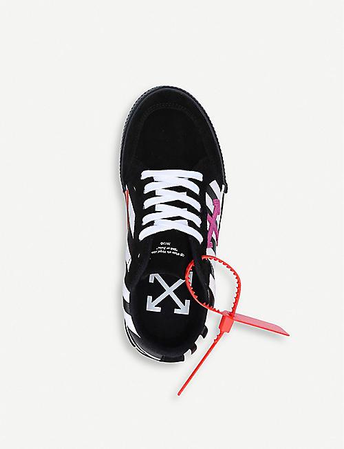 OFF-WHITE C/O VIRGIL ABLOH 硫化皮革和帆布低帮运动鞋