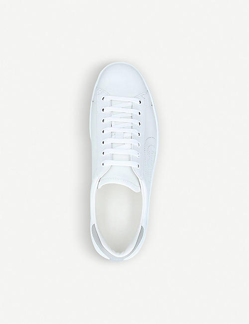 GUCCI New Ace perforated-logo leather trainers