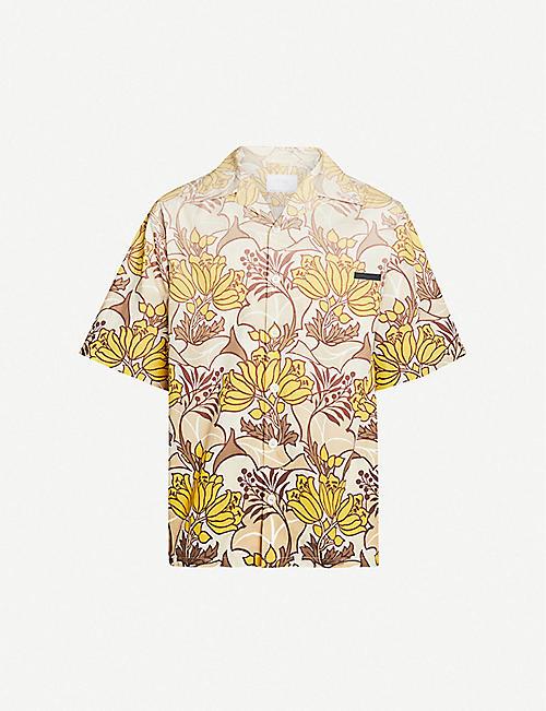 PRADA Retro floral-print cotton shirt