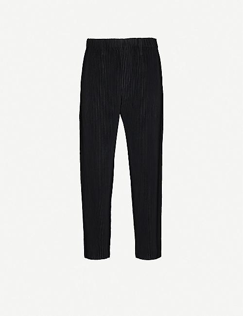 HOMME PLISSE ISSEY MIYAKE 褶皱锥形长裤