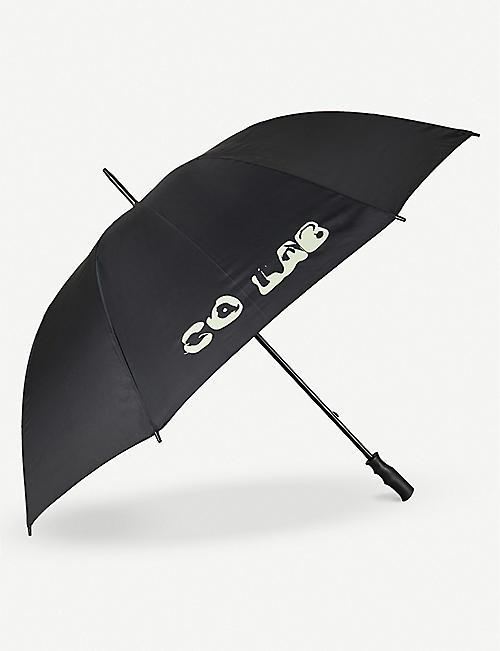 CO.LAB Highsnobiety brand-print woven golf umbrella