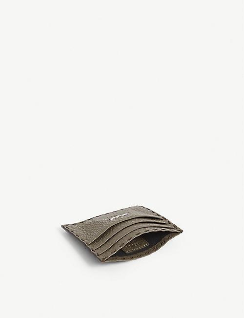 FENDI 粒面皮革卡夹