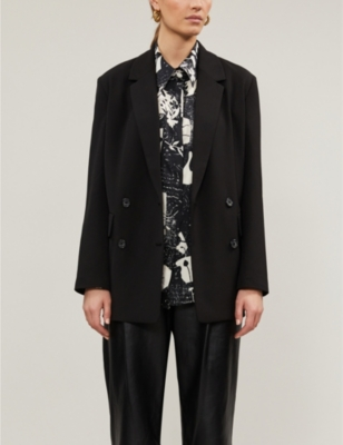 Jenner double-breasted stretch-woven blazer