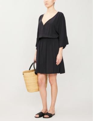 Vero Isla V-neck woven mini dress