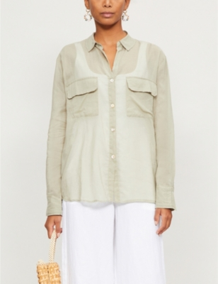 Ana Rumba relaxed-fit cotton-voile shirt