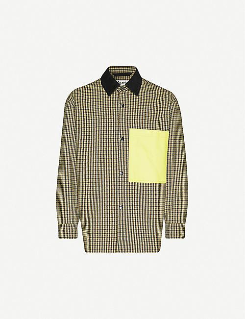 ACNE STUDIOS 奥斯马尔格纹羊毛混纺外套式衬衫