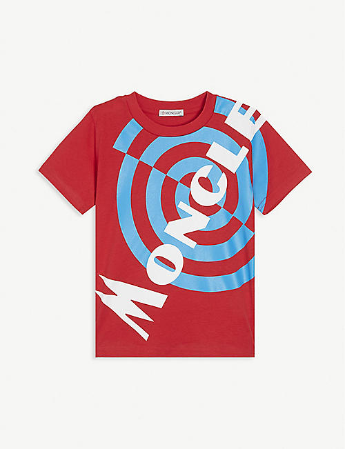 MONCLER Target logo cotton T-shirt 4-10 years