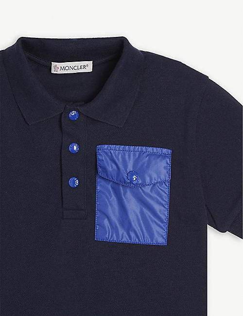 MONCLER Cotton polo shirt and shorts set 4-14 years