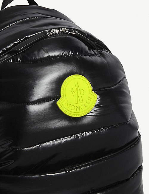 MONCLER Kids logo-print quilted nylon backpack