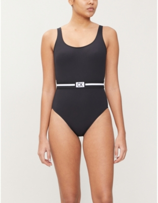 CK Core belted swimsuit