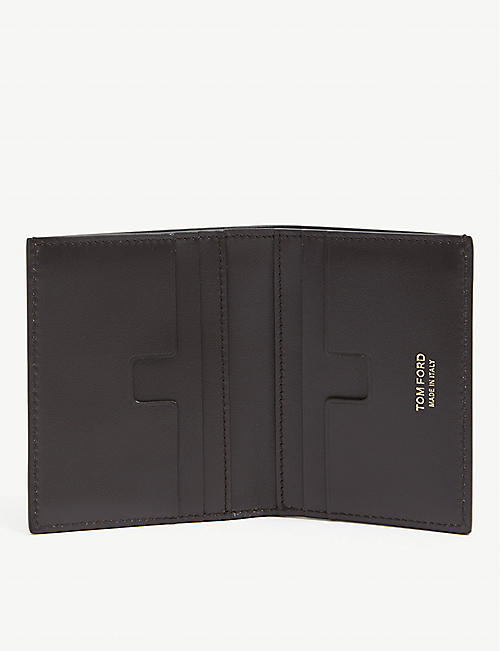 TOM FORD Leather bi-fold card holder