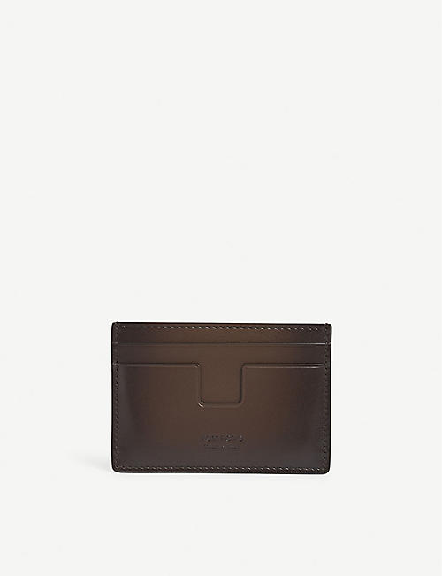 TOM FORD Smooth leather card holder