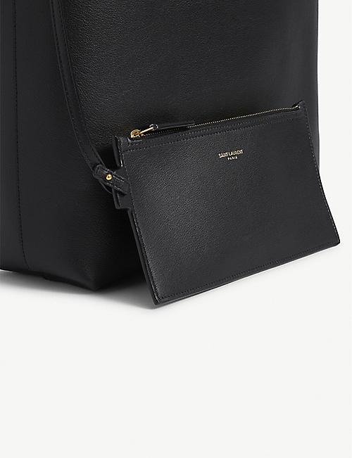 SAINT LAURENT Leather tote bag