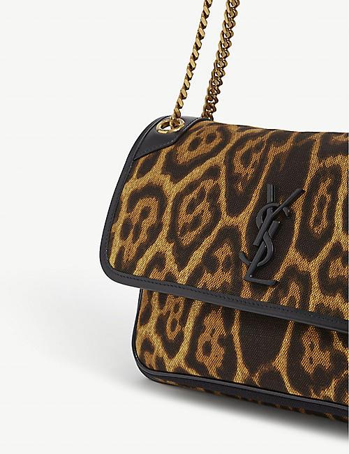 SAINT LAURENT Niki medium canvas shoulder bag