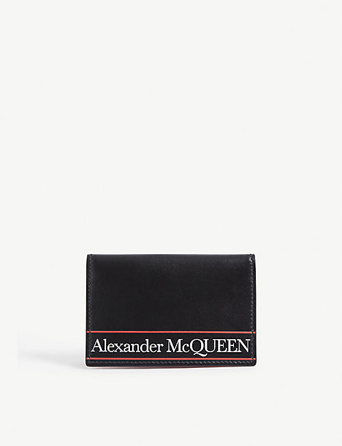 ALEXANDER MCQUEEN标志皮革折页钱包