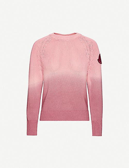 MONCLER Logo-embellished cotton-knit jumper