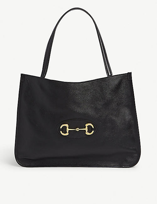 GUCCI 1955 Horsebit leather tote bag
