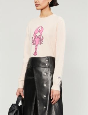 Mia lobster-print cotton-jersey jumper