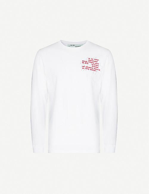 OFF-WHITE C/O VIRGIL ABLOH 海洋碎片长袖棉质球衣T恤