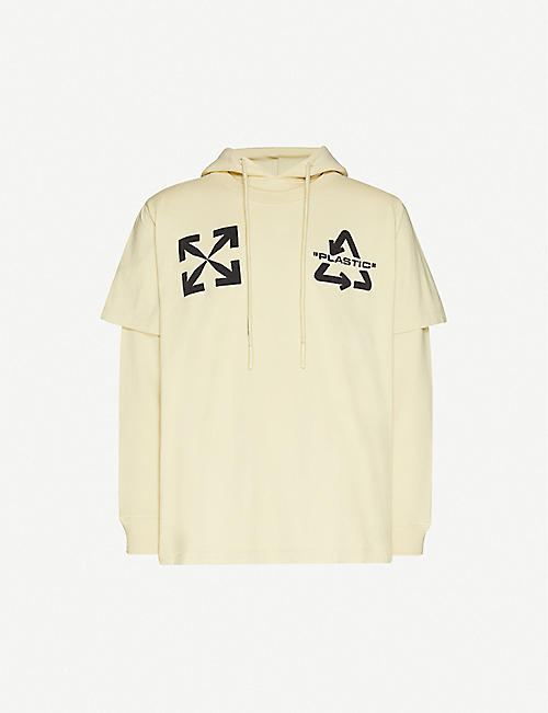 OFF-WHITE C/O VIRGIL ABLOH 大学键棉平纹针织面料帽衫