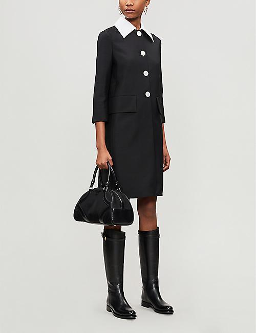 PRADA 皮革和 帆布保龄球包