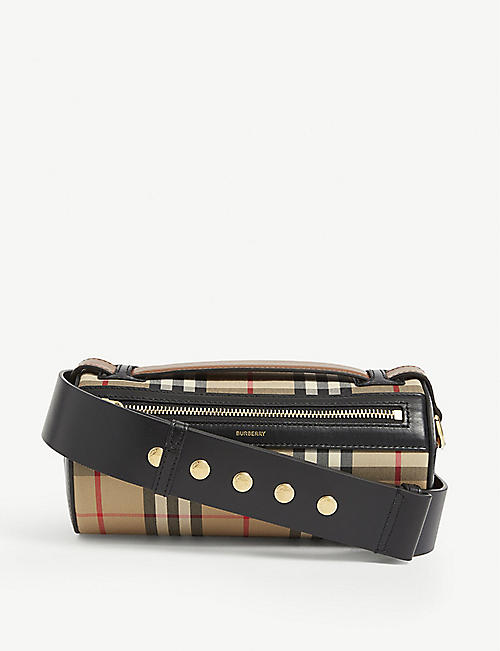 BURBERRY Vintage check cotton cross-body bag