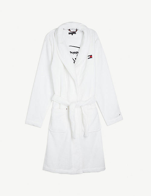 TOMMY HILFIGER Embroidered logo terry cotton dressing gown S-XL