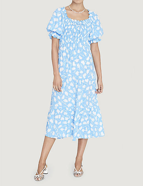 FAITHFULL THE BRAND Olinda floral-print crepe midi dress