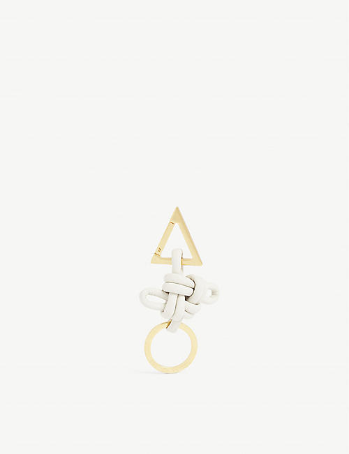 BOTTEGA VENETA Knotted leather keyring
